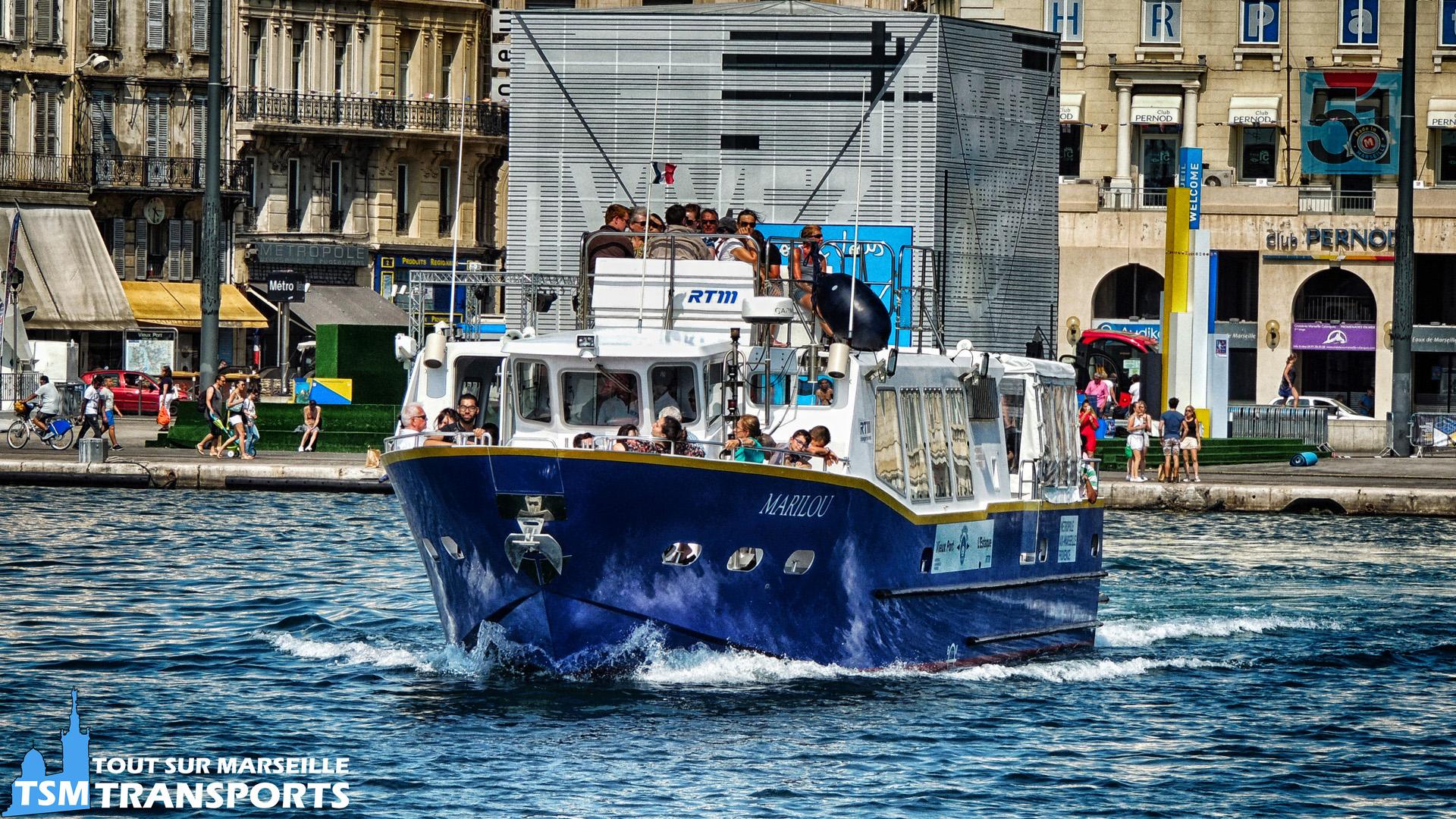 """Navette Maritime RTM  Vieux Port - L'Estaque """"Marilou"""""""