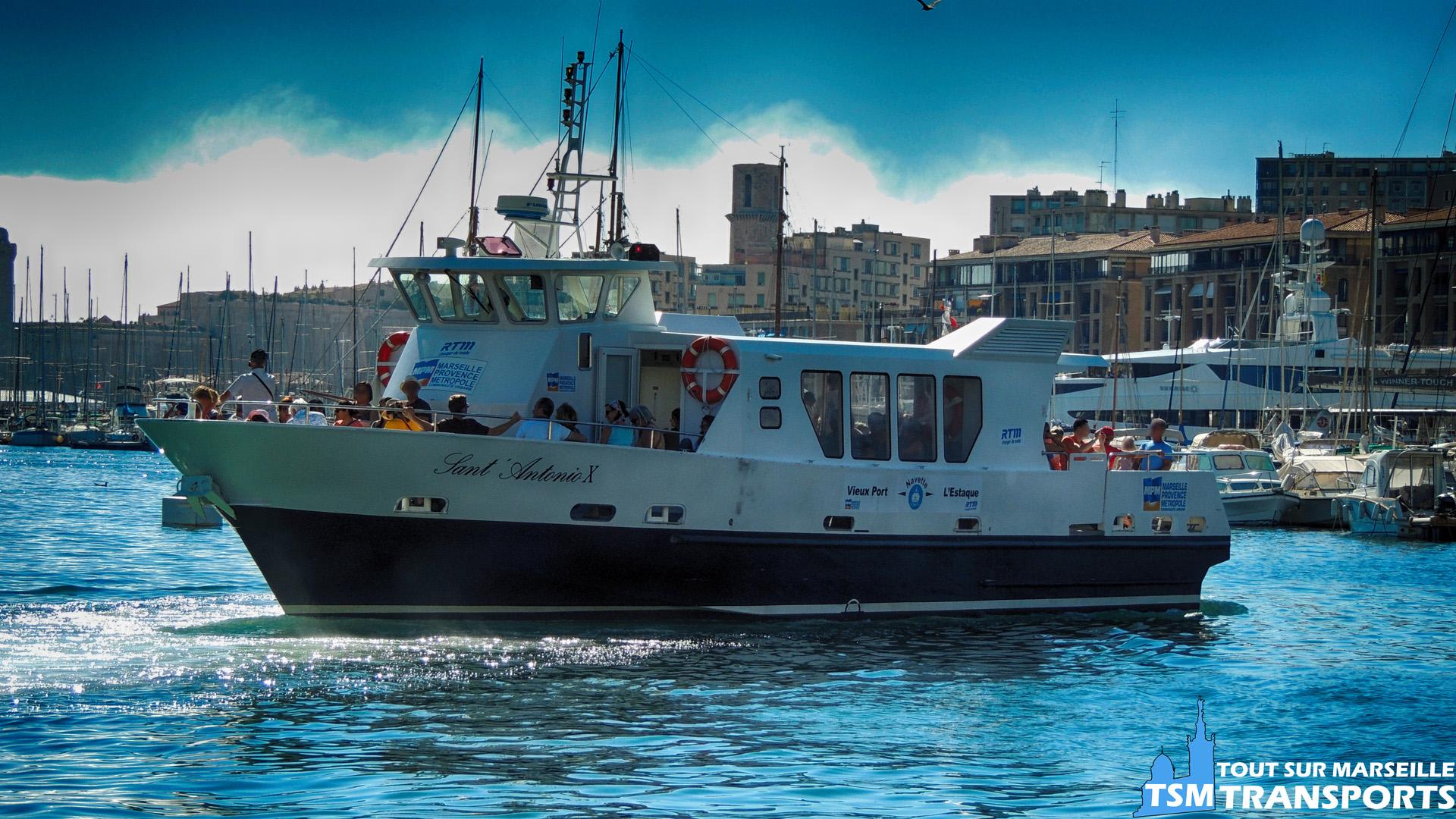 """Navette Maritime RTM  Vieux Port - L'Estaque """"Sant'Antonio X"""""""