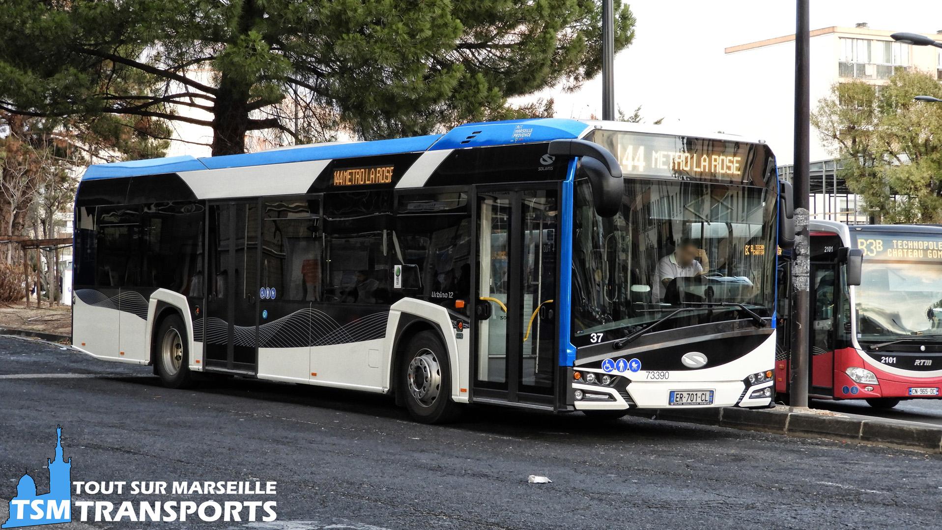 Solaris Urbino 12 V4 n°73390 de la société Car Du pays D'aix