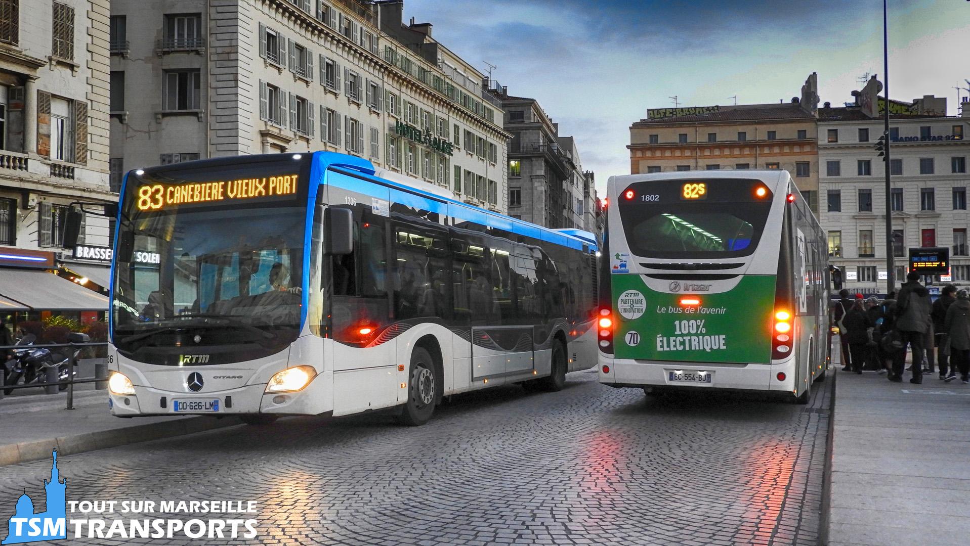 Mercedes Benz Citaro 2 Euro 6 et Irizar I2e RTM n°1336 et 1802