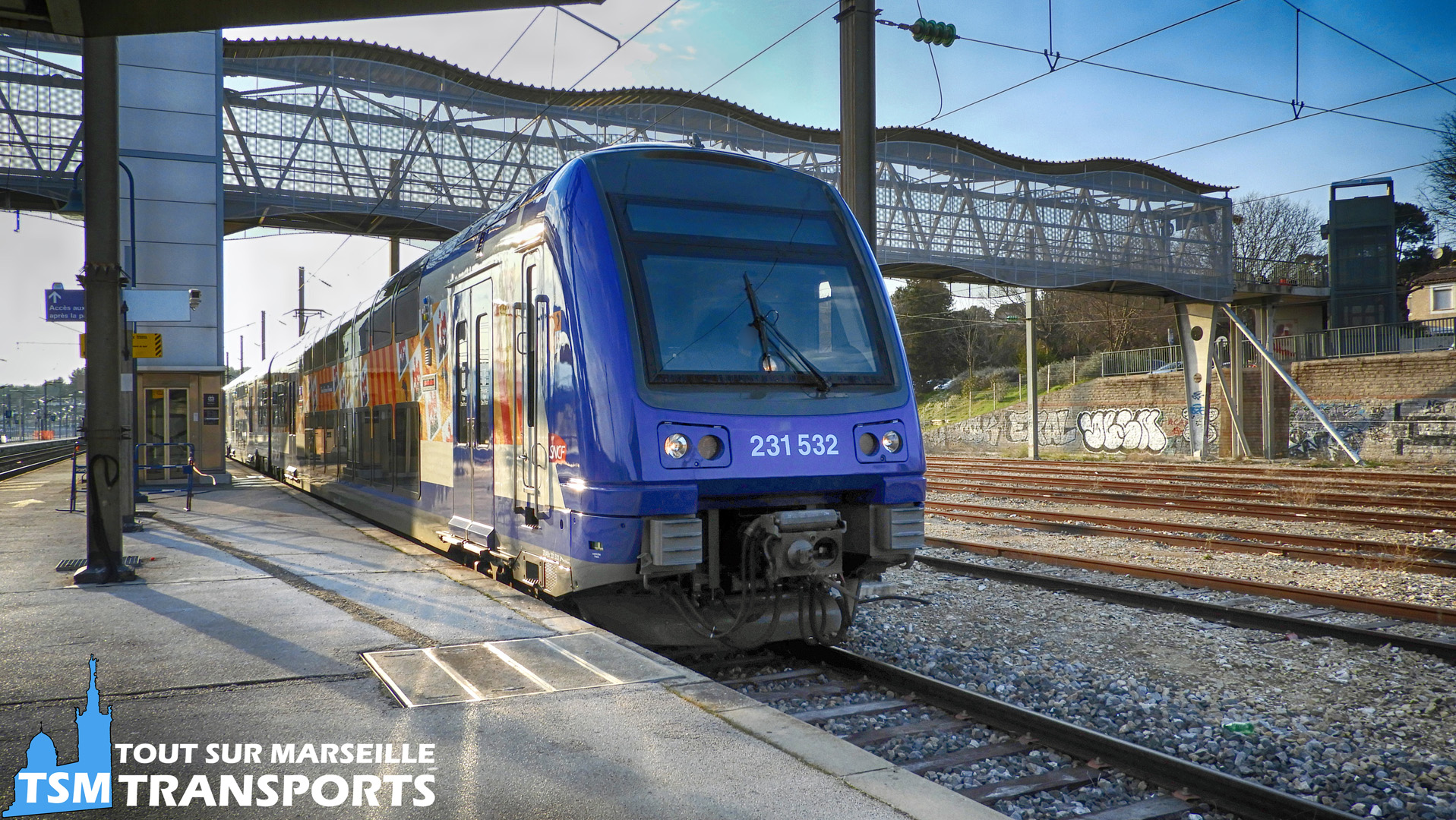 Alstom z23500 SNCF n°23532 en gare d'Aubagne
