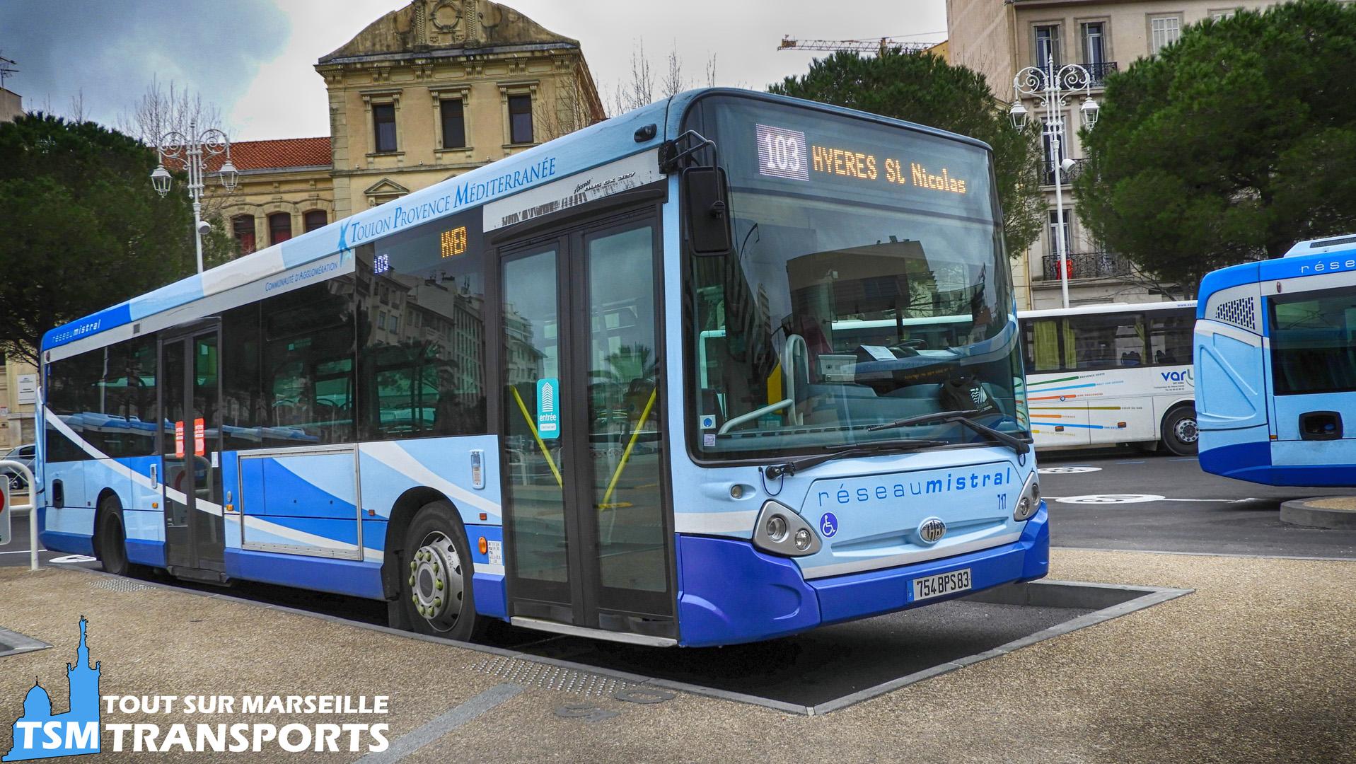 Heuliez Bus GX327 n°717 à la Gare Routière de Toulon