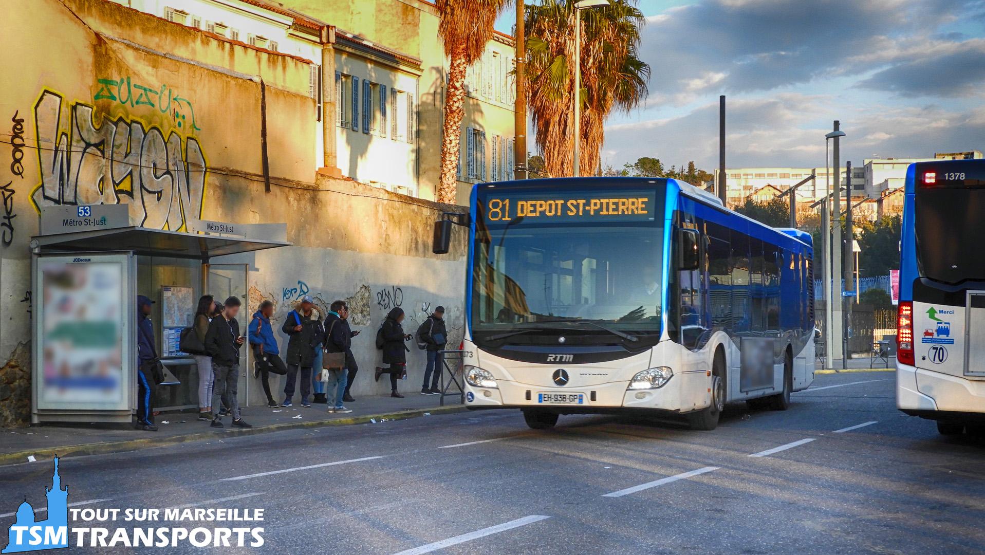 Mercedes Benz Citaro 2 Euro 6 RTM n°1373 quitte son terminus pour prendre la direction du dépôt