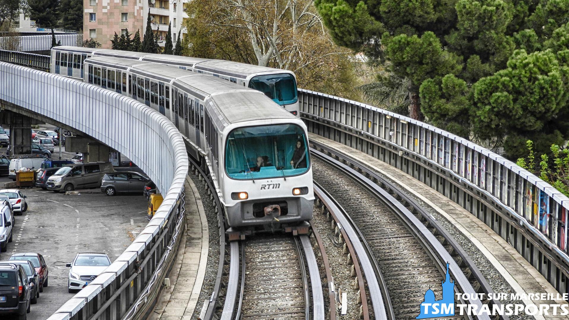 Alstom MPM76 à l'entrée du Tunnel La Rose - Frais Vallon