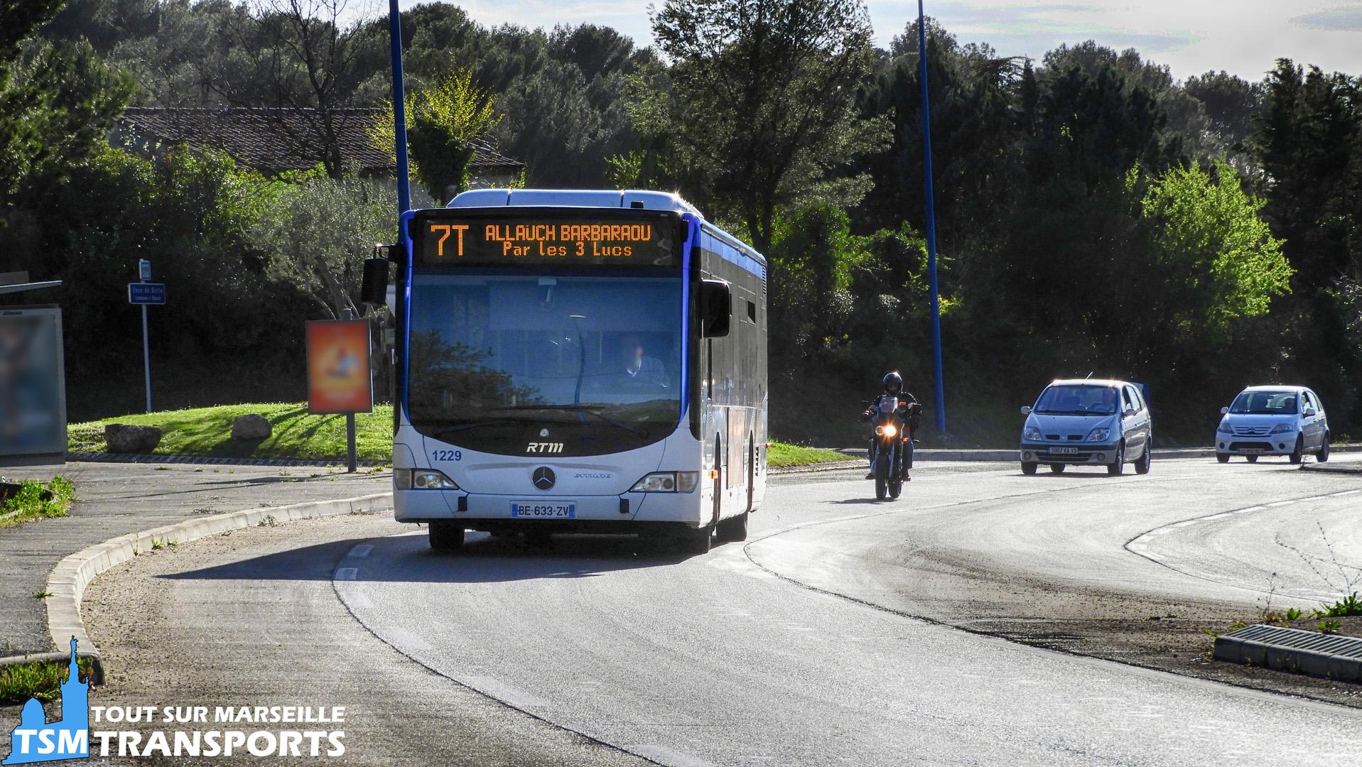 Mercedes Benz Citaro Facelift RTM n°1229 sur l'Avenue de Provence à Allauch