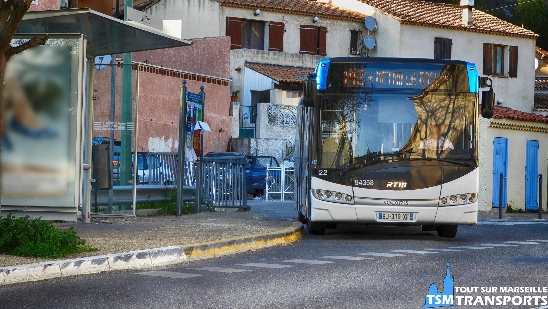 Solaris Urbino 12 V3 n°22 / n°94353 de la société Car du Pays D'aix au Terminus La Fêve