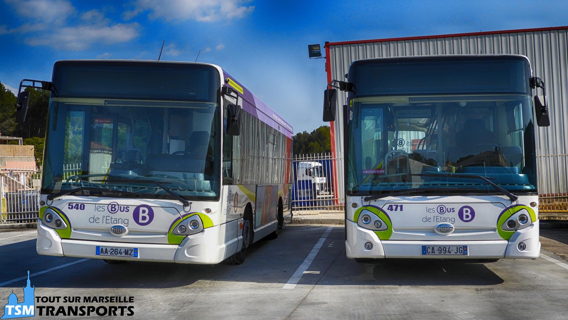 2 Heuliez Bus GX 127 au Dépôt SUMA à Rognac
