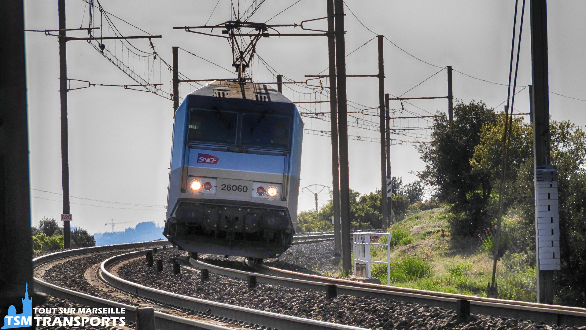 Alstom BB26000 (Sybic) SNCF n°26060 à Saint Chamas