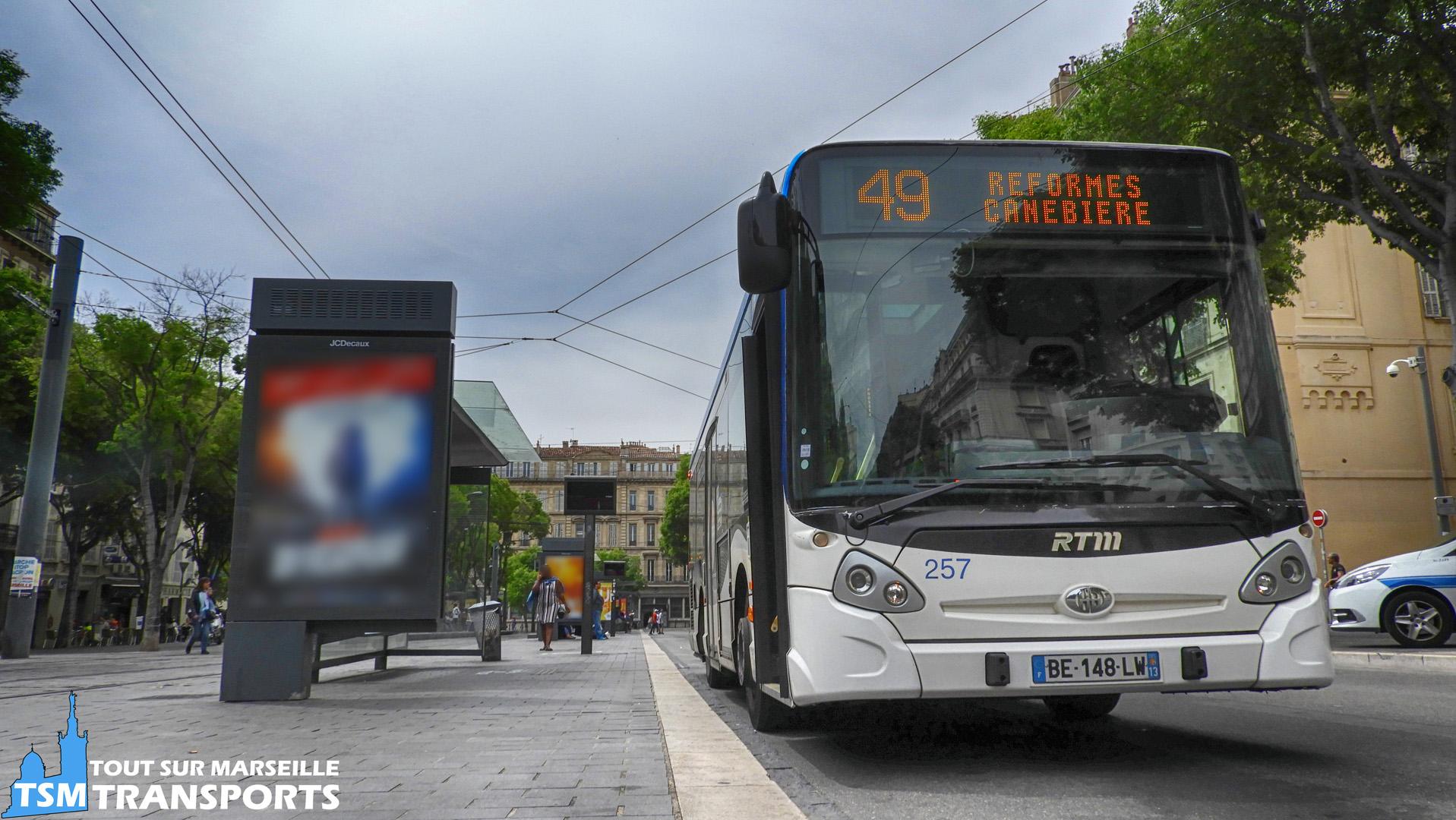 Heuliez Bus GX 127 RTM n°257 sur la ligne 49