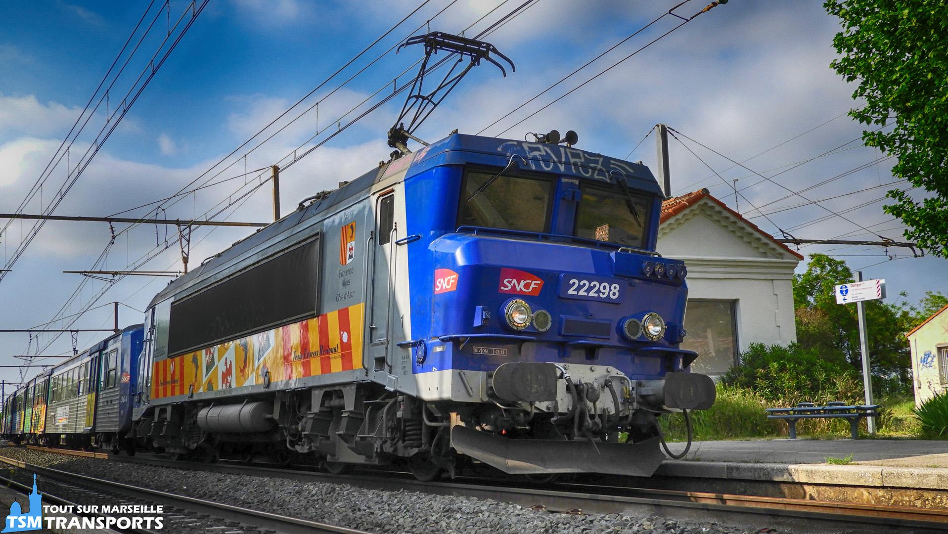 Alstom BB22298 RC SNCF en gare de Pas des Lanciers