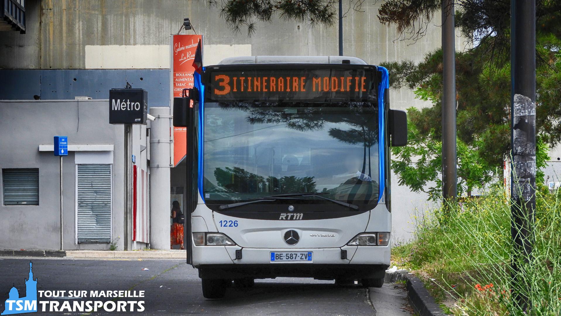 Mercedes Benz Citaro Facelift RTM n°1226 en pause à la gare d'échange du Métro La Rose
