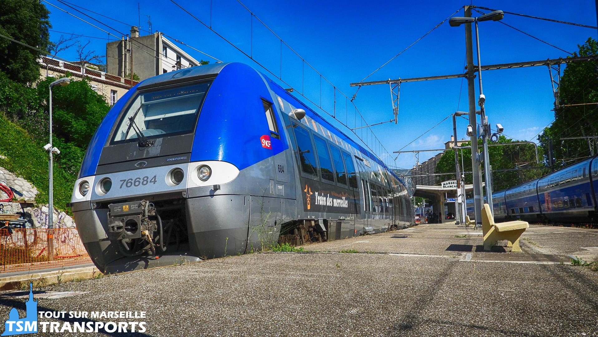 Bombardier AGC SNCF n°76684 (train des merveilles) à la gare  de la blancarde