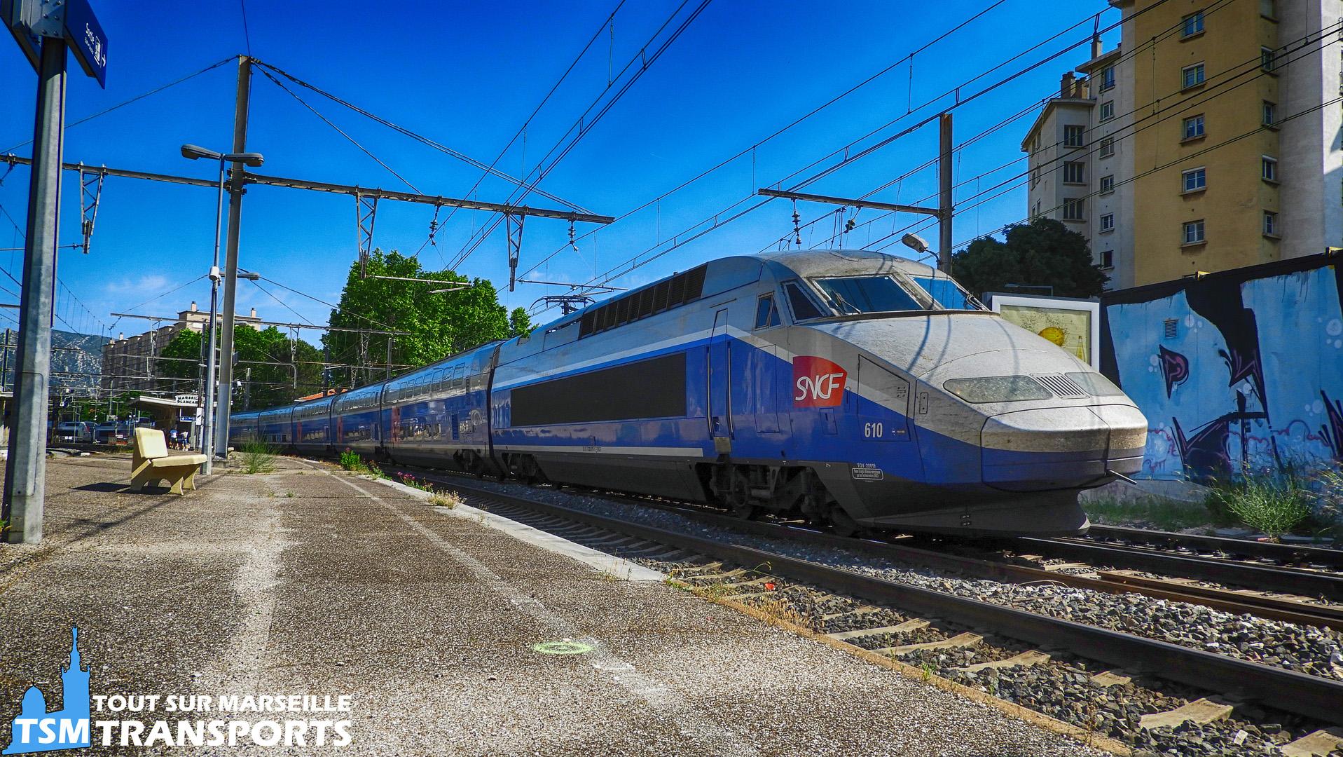 Alstom TGV Réseau Duplex SNCF N°610 en UM avec l'euro duplex 825