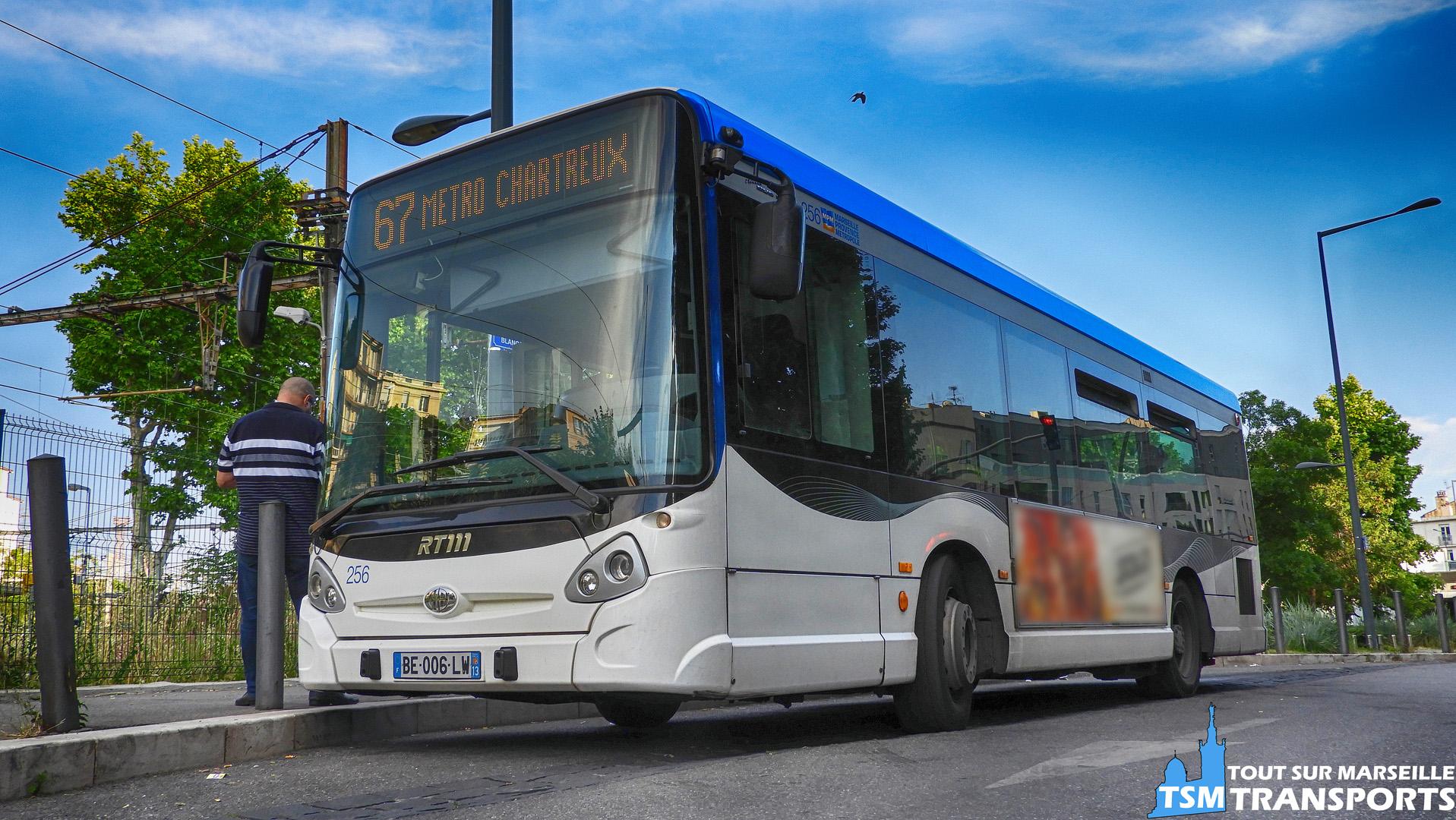 Heuliez Bus GX127 RTM n°256 au terminus de La Blancarde