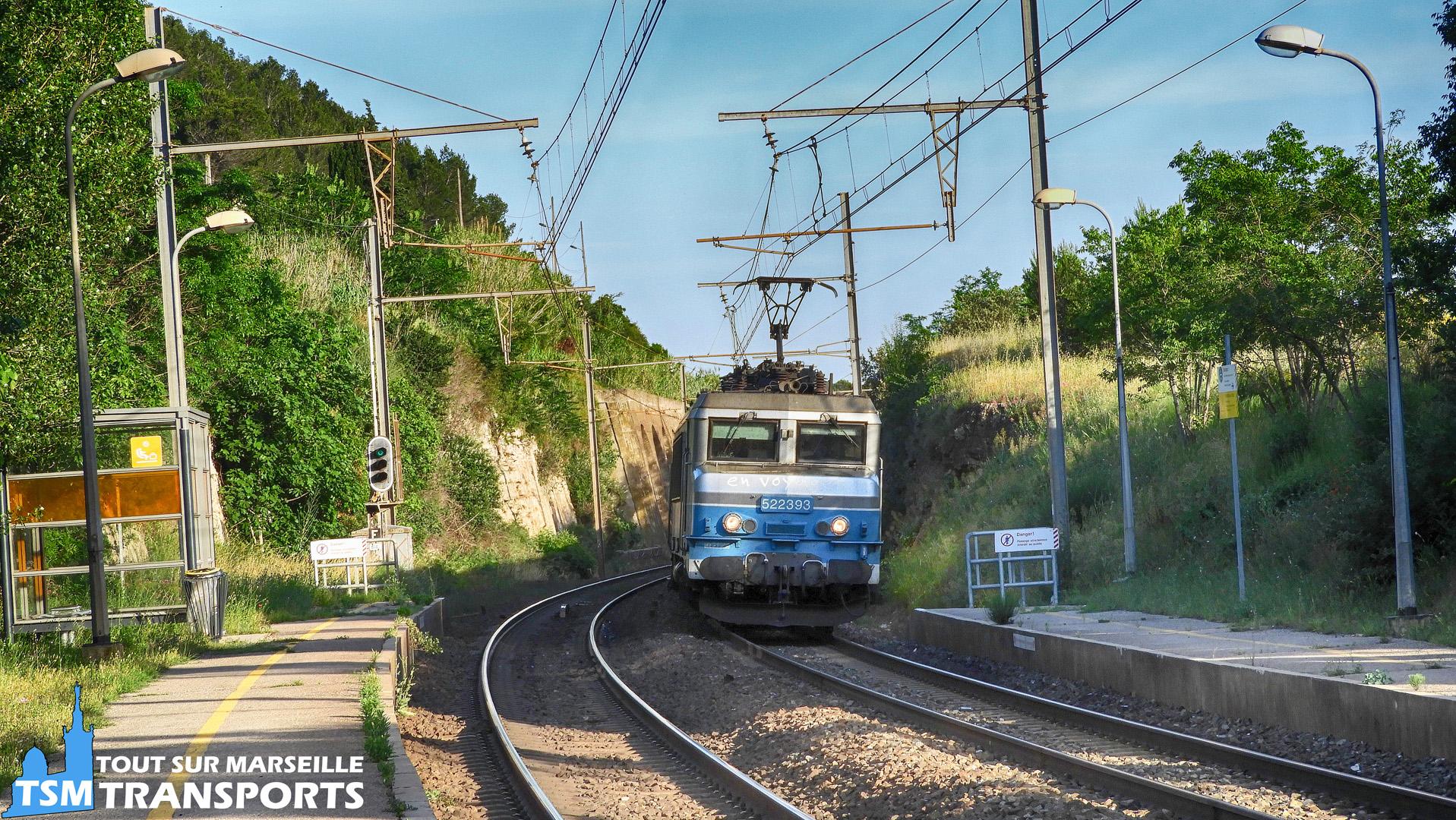 Alstom BB22200 n°22393 SNCF à Saint Chamas