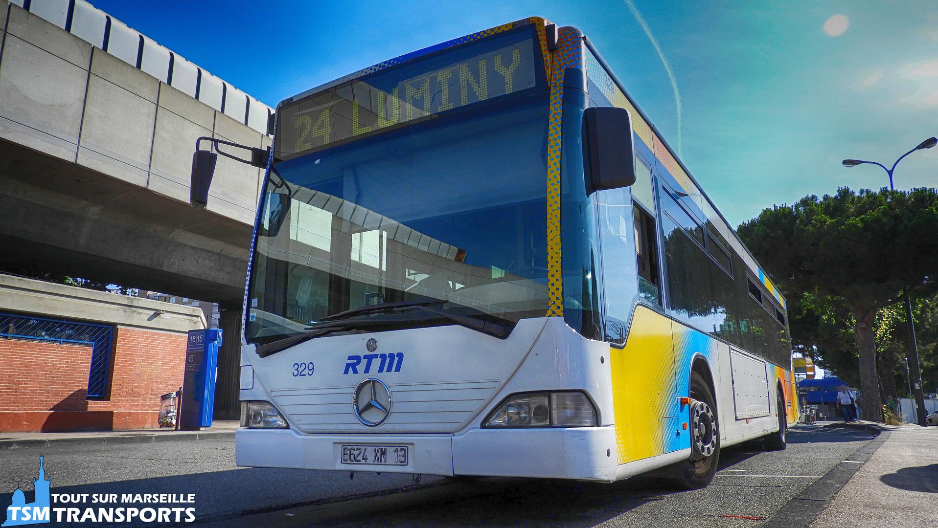 Mercedes Benz Citaro 1 RTM n°329 en livrée Fusion