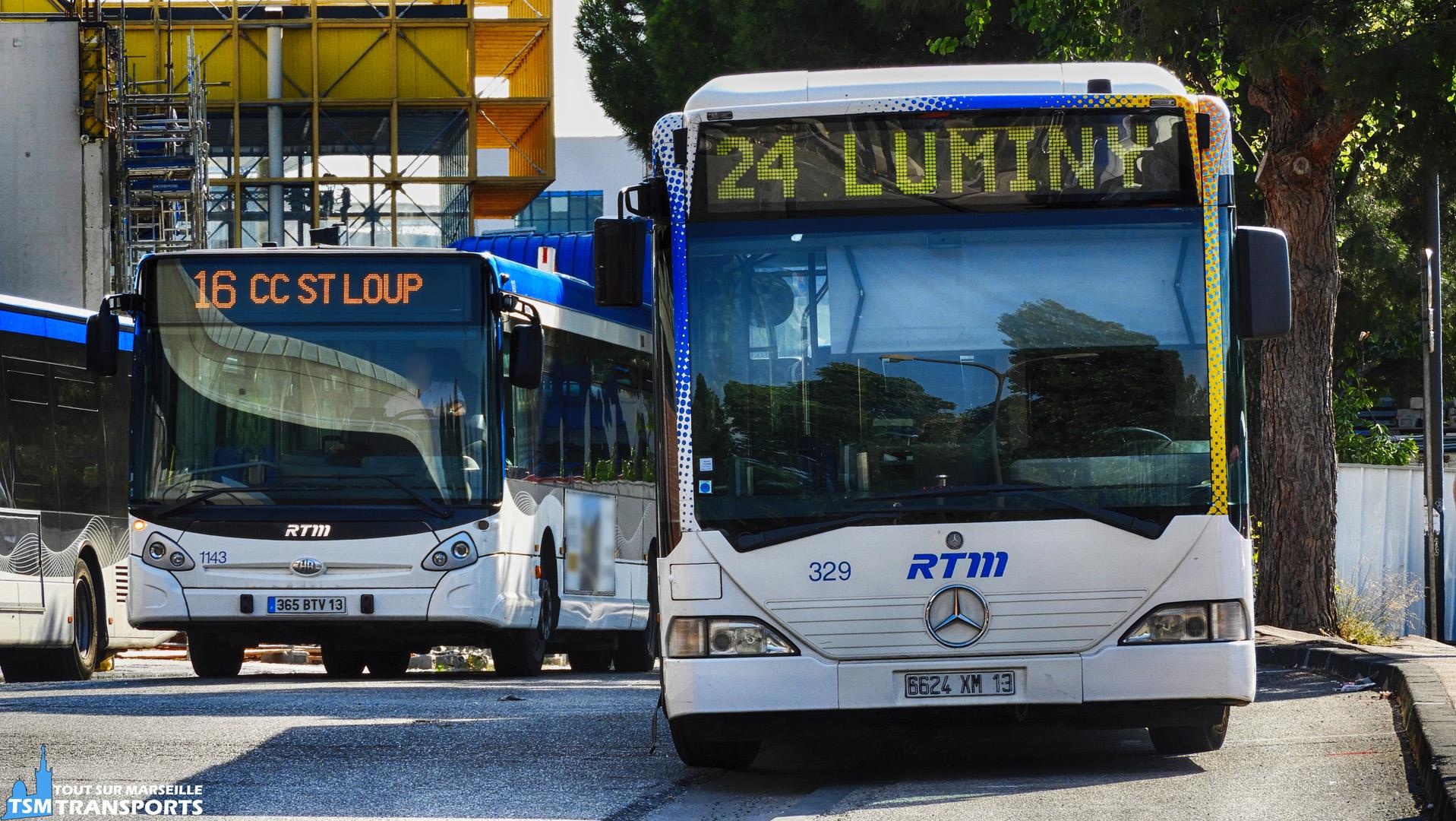 Mercedes Benz Citaro 1 et Heuliez Bus GX327 RTM