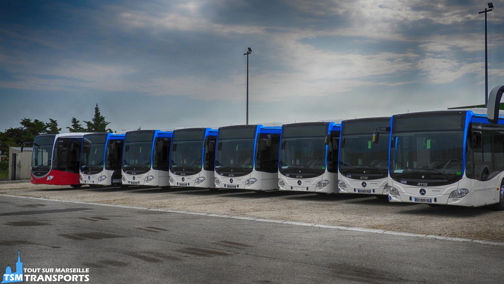 Vue d'ensemble de la nouvelle commande de Mercedes Benz Citaro 2 Euro 6 pour la RTM