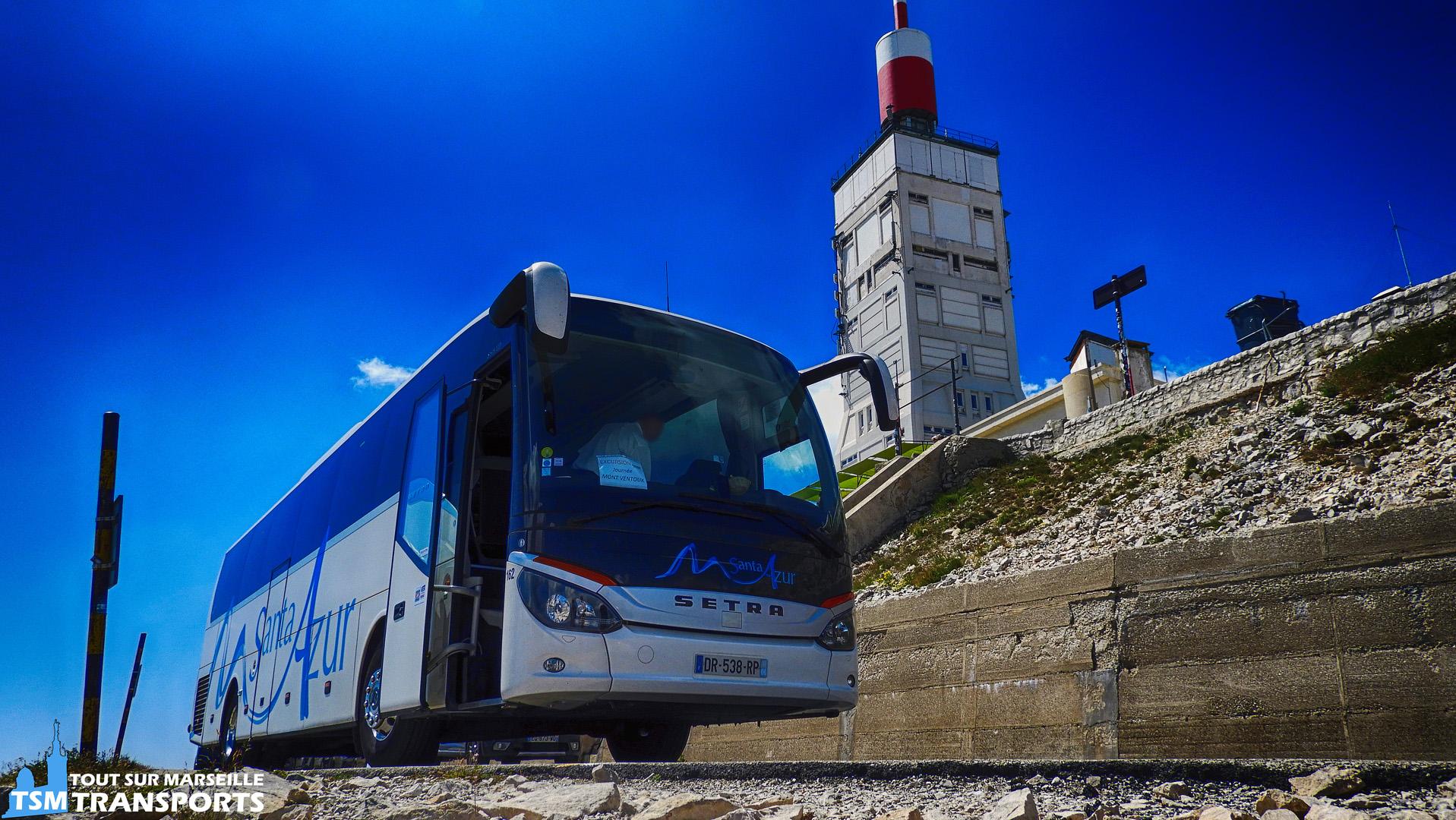 Setra S 515 MD de la société Santa Azur au Mont Ventoux