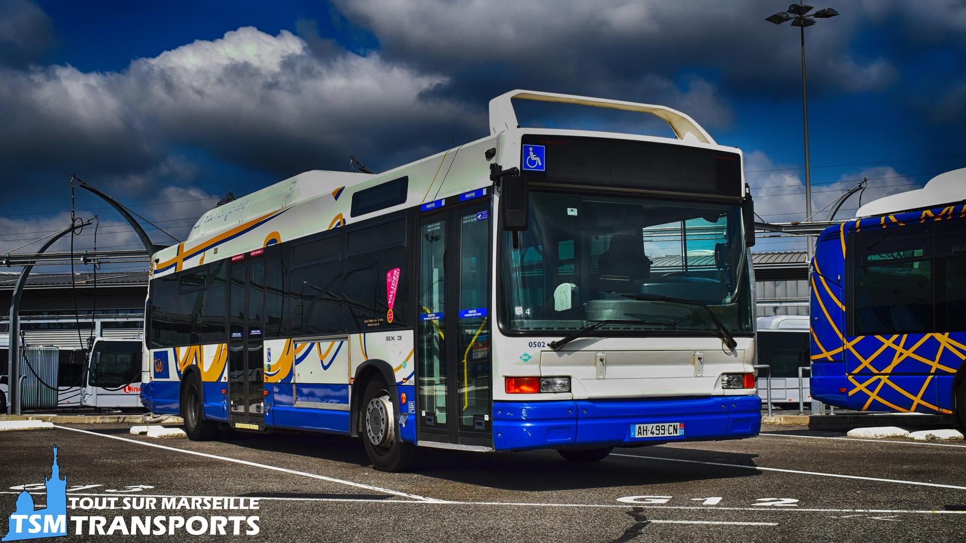Heuliez Bus GX317 GNV au dépôt de Langlade Tisséo