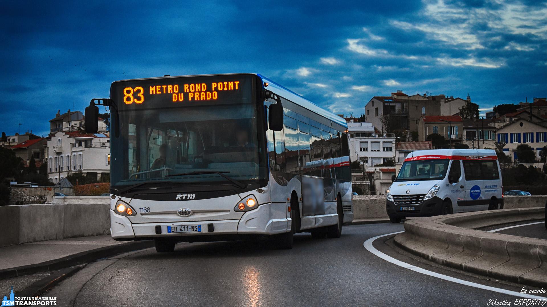 Vous le savez depuis le temps, les courbes, je kiffe, nous avons le droit ce jour à un petit duo de véhicules RTM sur la corniche, avec deux types de service différents, au premier plan, un Heuliez Bus GX 327 en service sur la ligne 83 (service classique) et au second plan, un Renault Master aménagé PMR (service Mobi métropole). . ℹ️ Heuliez Bus GX 327 RTM n°1168 et Renault Master RTM / Mouv'Idées n°M17. . 📍Corniche Président John Fitzgerald Kennedy, 7eme arrondissement de Marseille. . ↔️ 83 : Canebière Vieux Port - Métro Rond Point du Prado. . ↔️² : TAD pour les personnes à mobilité réduite. . 📸 Nikon D5600. . 📷 Nikkor 18-55mm. . 📅 12 Décembre 2018 à 16:47. . 👨 Sébastien ESPOSITO.