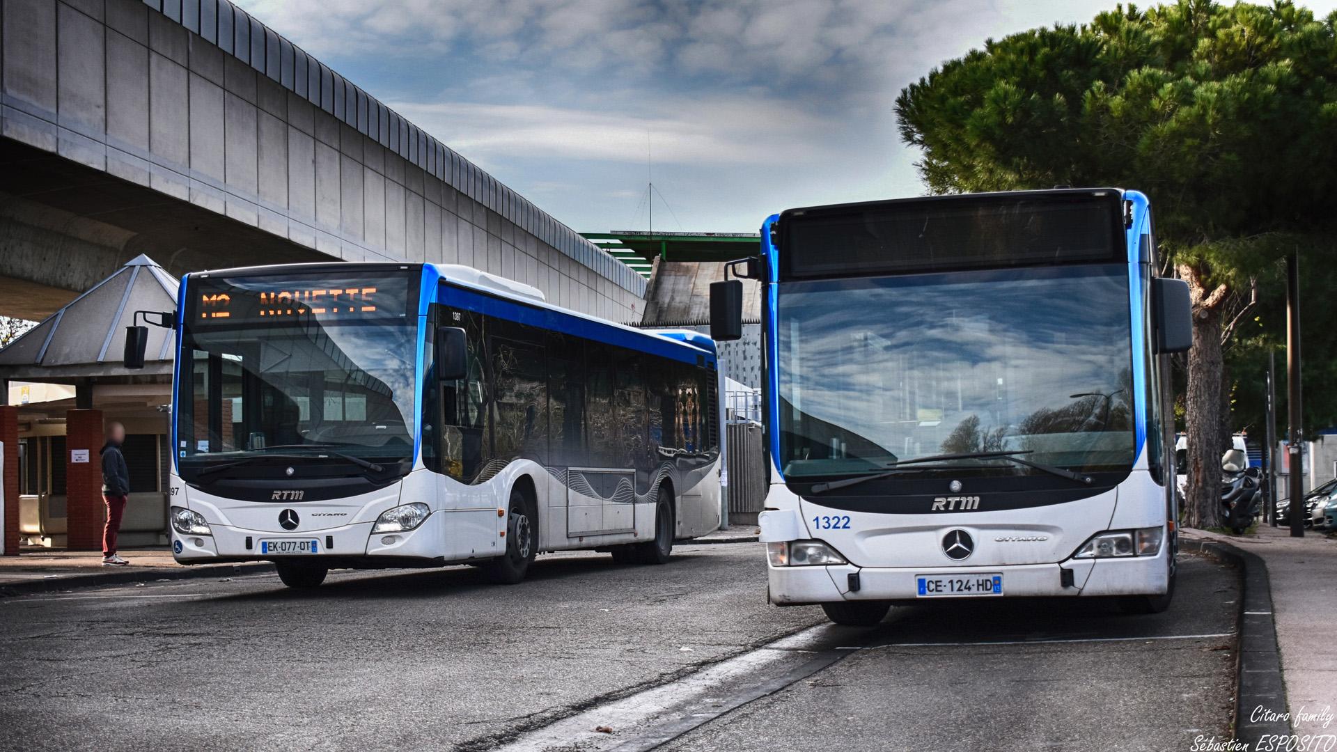 Quand le métro joue les fauteurs de troubles, c'est les Citaro qui prennent le relais, à la station Sainte Marguerite Dromel, les Citaro se doublent et se croisent pour assuré la ligne de secours M2, le tout, dans une gare d'échange étonnement calme. . ℹ️ Mercedes Benz Citaro 2 Euro 6 RTM n°1397 et Citaro facelift RTM n°1322. . 📍 Métro Sainte Marguerite Dromel, Boulevard Schloesing, 9eme arrondissement de Marseille. . ↔️ M2 Navette : Sainte Marguerite Dromel - Castellane. . 📸 Nikon D5600. . 📷 Nikkor 18-55mm. . 📅 22 Décembre 2018 à 11:33. . 👨 Sébastien ESPOSITO.