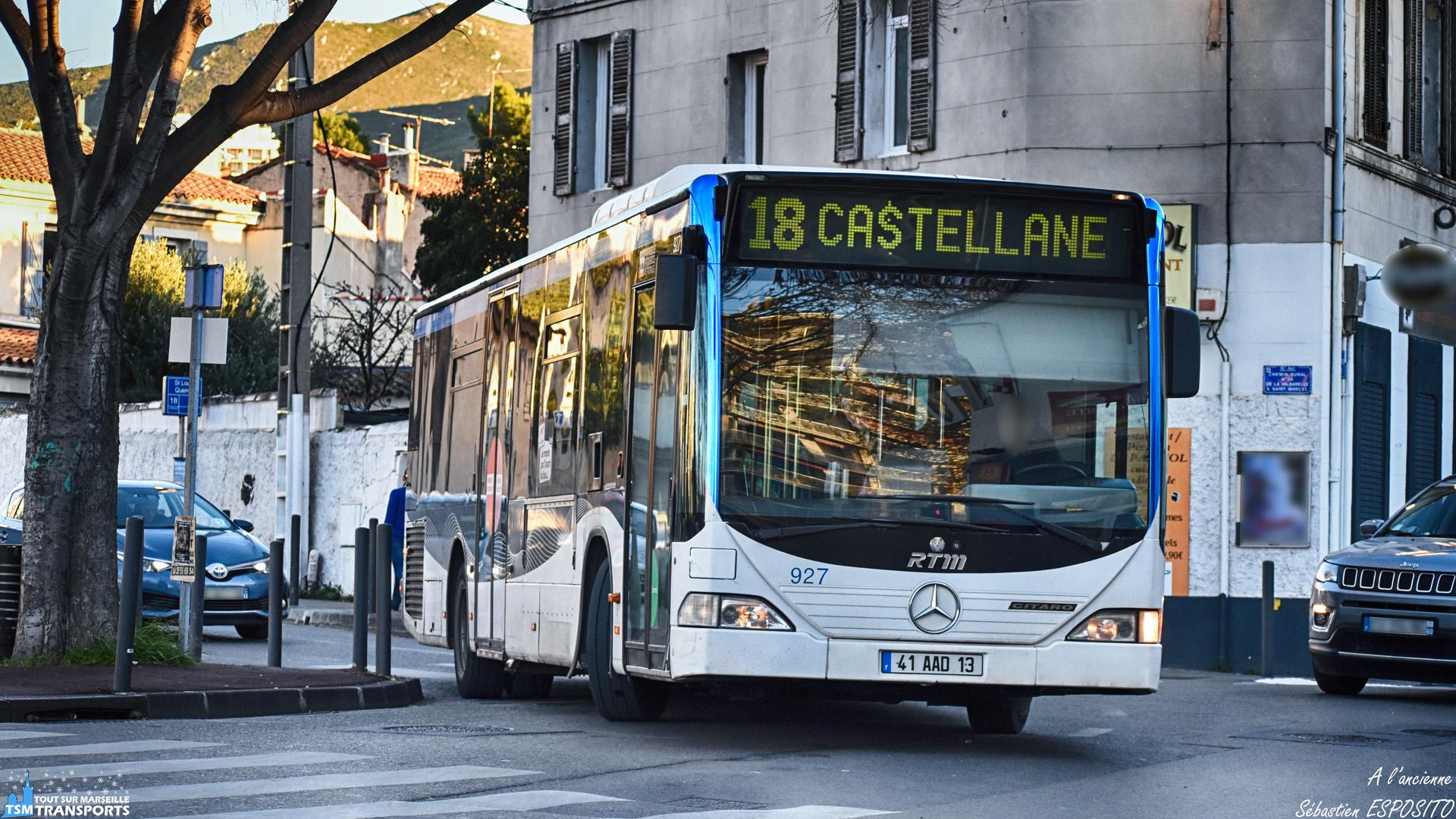 Quoi de mieux que de contempler ces Citaro premier du nom, négocié les multiples carrefours qui composent la ligne 18. . C'est au tour du 927 de s'élancer sur le Boulevard de Saint Loup en direction de Castellane. . ℹ️ Mercedes Benz Citaro 1 RTM n°927. . 📍 Boulevard de Saint Loup au niveau du lycée Marcel Pagnol, 10eme arrondissement de Marseille. . ↔️ 18 : Castellane - Le Bosquet. . 📸 Nikon D5600. . 📷 Nikkor 70-300mm. . 📅 2 Janvier 2019 à 16:28. . 👨 Sébastien ESPOSITO.