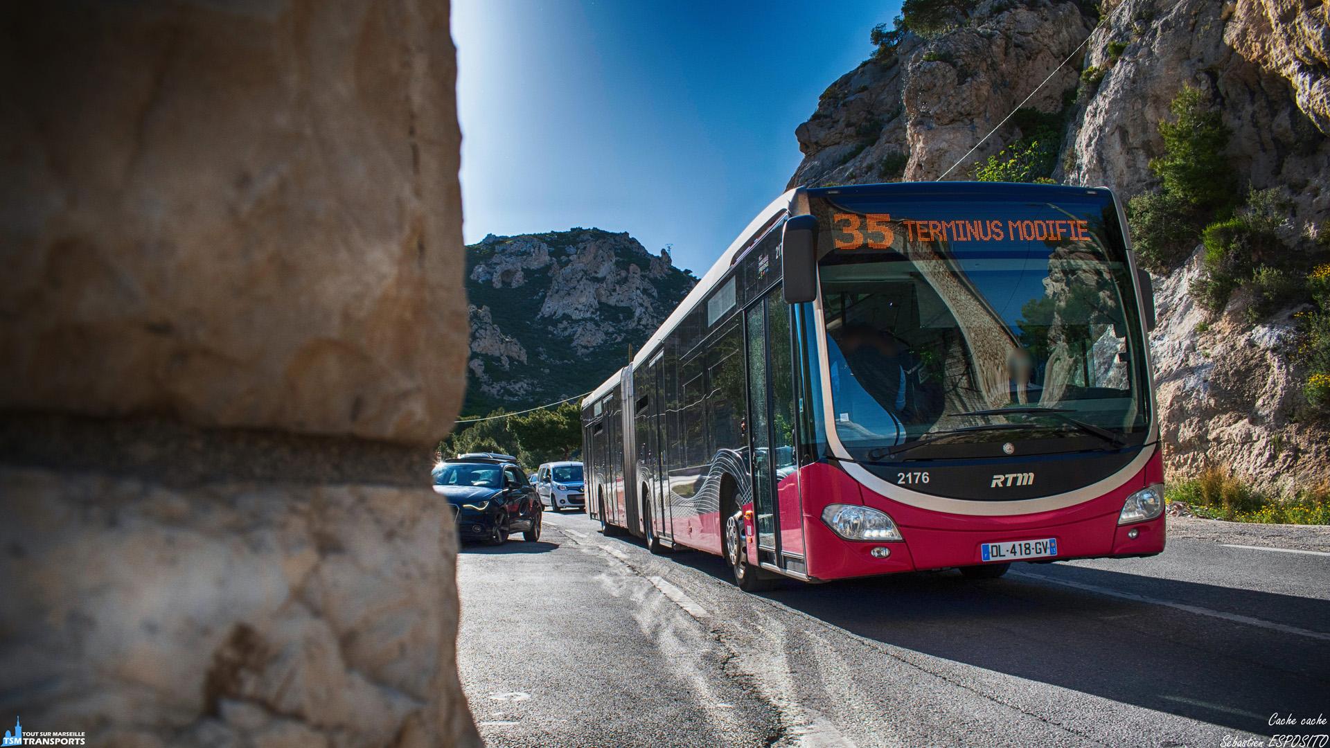 Le samedi, certains services de la ligne 35 deviennent des services de la 35S qui est un déplacement du terminus de la 35 aux plages de Corbière. . C'est par un samedi très ensoleillé que ce Citaro articulé passe sous une des arches du Viaduc de Corbière en service partiel suite aux perturbations occasionnées par les gilets jaunes. . ℹ️ Mercedes Benz Citaro 2 G Euro 6 BHNS RTM n°2176. . 📍 Plage de l'Estaque, 16eme arrondissement de Marseille. . ↔️ 35S : Plage de Corbière - Joliette (terminus ramener à Métro Bougainville). . 📸 Nikon D5600. . 📷 Nikkor 18-55mm. . 📅 11 Mai 2019 à 18:03. . 👨 Sébastien ESPOSITO.