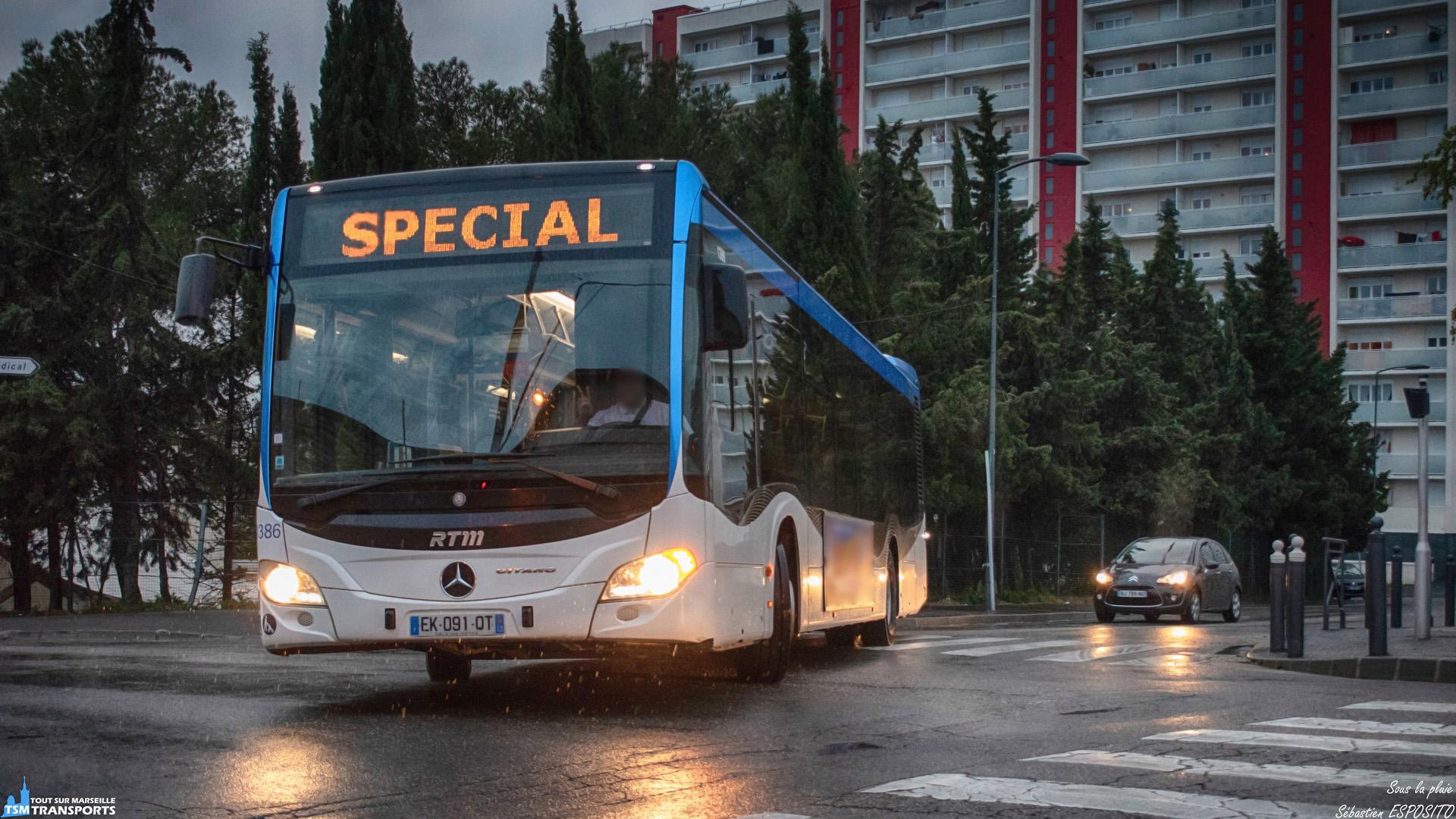 La journée fut très humide pour les bus de la régie et sous la pluie qui s'intensifie en fin de journée, je recroise ce Citaro attrapé sur la ligne 9 quelques jours plus tôt avec au volant un conducteur fort sympathique. . ℹ️ Mercedes Benz Citaro 2 Euro 6 RTM n°1386. . 📍 Boulevard Laveran / Rue de Marathon, 13eme arrondissement de Marseille. . ↔️ HLP itinéraire ligne 32. . 📸 Nikon D5600. . 📷 Nikkor 18-55mm. . 📅 11 Avril 2019 à 19:55. . 👨 Sébastien ESPOSITO un peu mouillé.