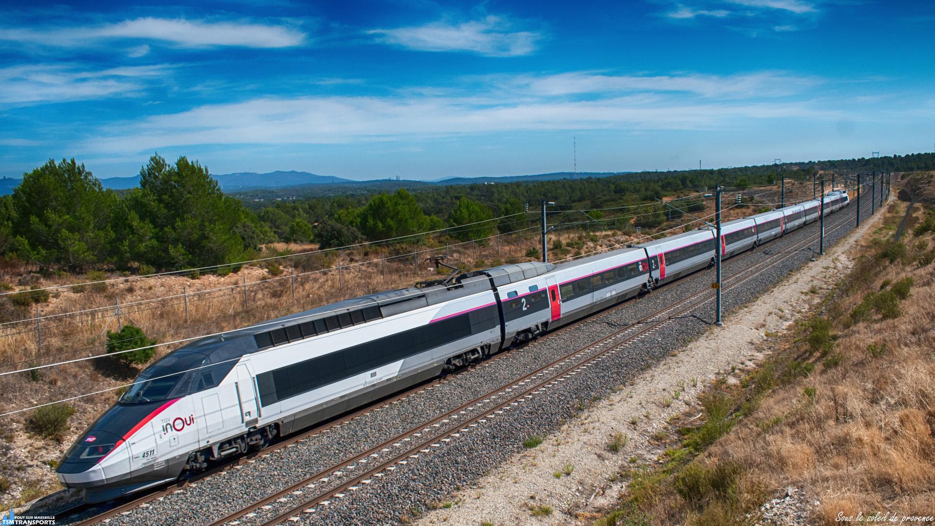 Sous un soleil en pleine forme, ce TGV Réseau Intersecteur Tricourant récemment Inouiser file vers Marseille, il est aperçu ici, dans le Parc Départemental de la Tour de l'Arbois, qui est traversé par la LGV Méditerranée. . ℹ️ Alsthom TGV Réseau Intersecteur Tricourant n°4511 SNCF. . 📍 Parc Départemental de la Tour de l'Arbois, 13290 Aix-en-Provence. . ➡️ Marseille Saint Charles. . 📖 Le plateau de l'Arbois, aussi appelé chaîne de Vitrolles, est un petit plateau dans les Bouches-du-Rhône. Le massif offre des milieux d'une grande richesse et abrite aujourd'hui deux infrastructures majeures : le technopôle de l'Arbois Méditerranée et la gare TGV d'Aix en Provence. . 📸 Nikon D5600. . 📷 Nikkor 18-55mm. . 📅 17 Août 2019 à 16:10.